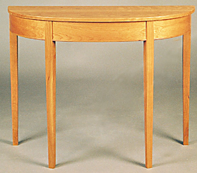 Wilson woodworking shaker furniture traditional and - Table cuisine demi lune ...