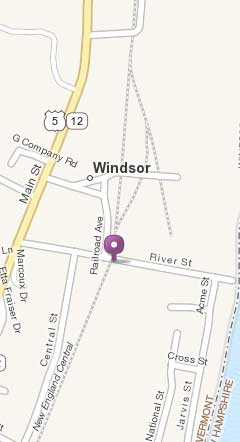 map of Windsor, Vermont near Wilson Woodworking